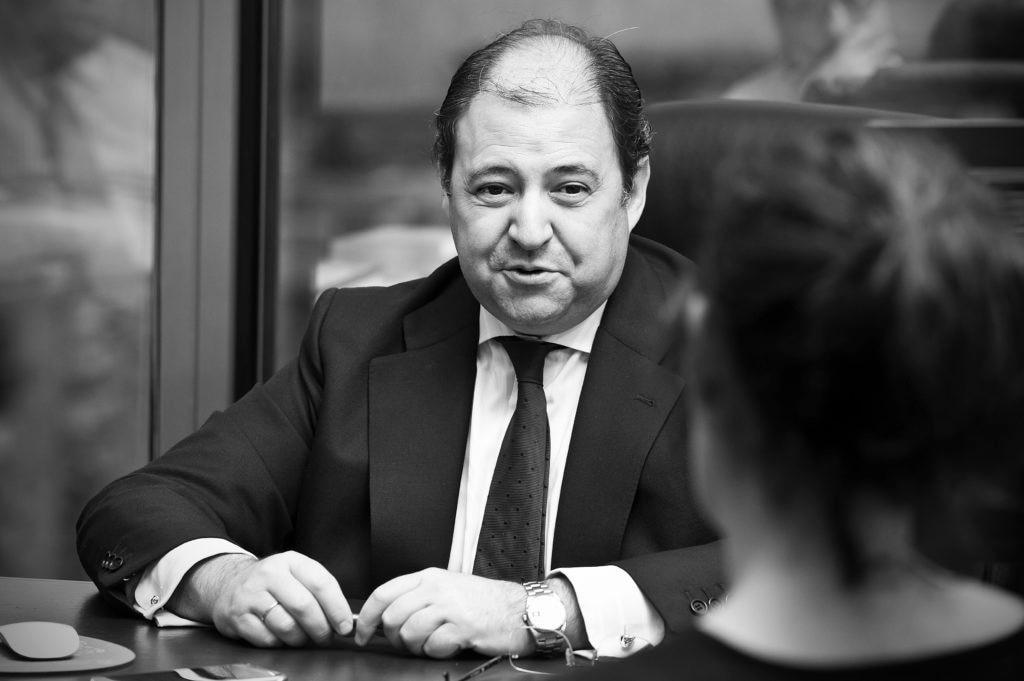 Antonio Béjar durante la entrevista