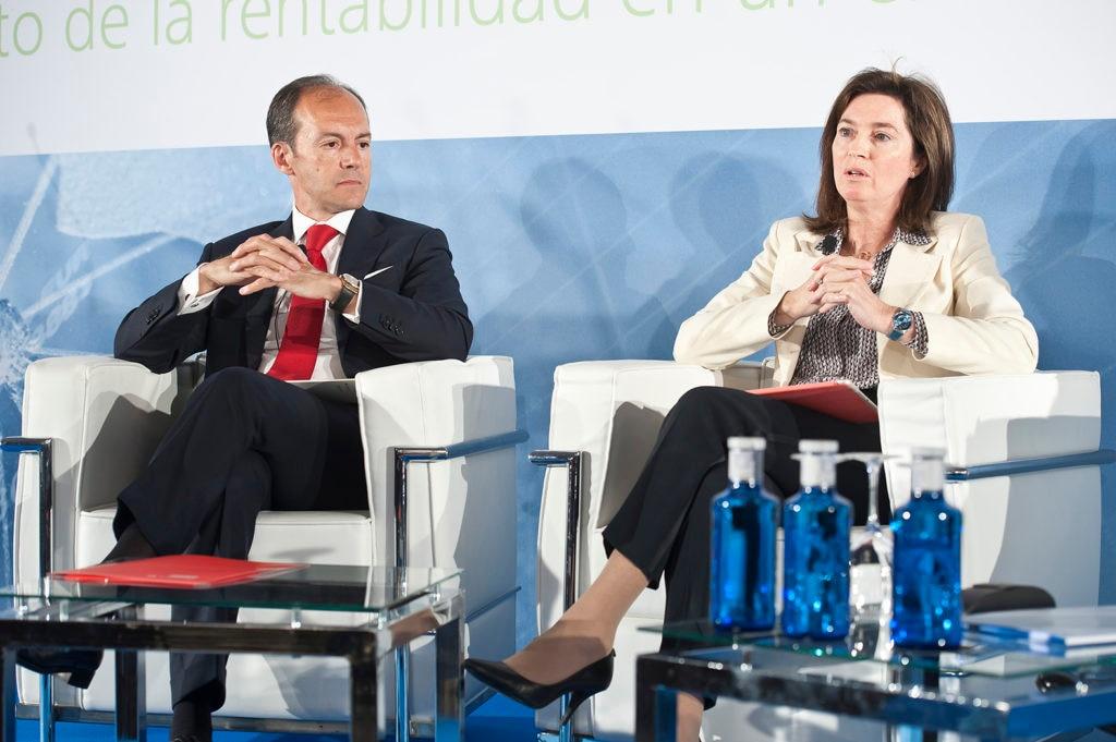La directora de BBVA España, Cristina de Parias, ha intervenido este martes en el XXIII Encuentro del Sector Financiero, organizado por Deloitte, ABC y la Sociedad de Tasación