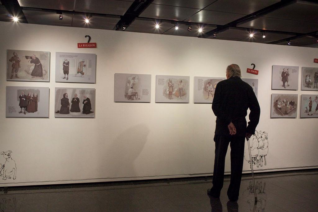 Fotografía exposición de Miguel de Cervantes organizada por la Fundación BBVA Provincial