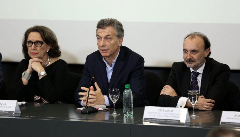 Fotografía de Mauricio Macri, presidente de Argentina, en el Encuentro Empresarial Iberoamericano en Argentina