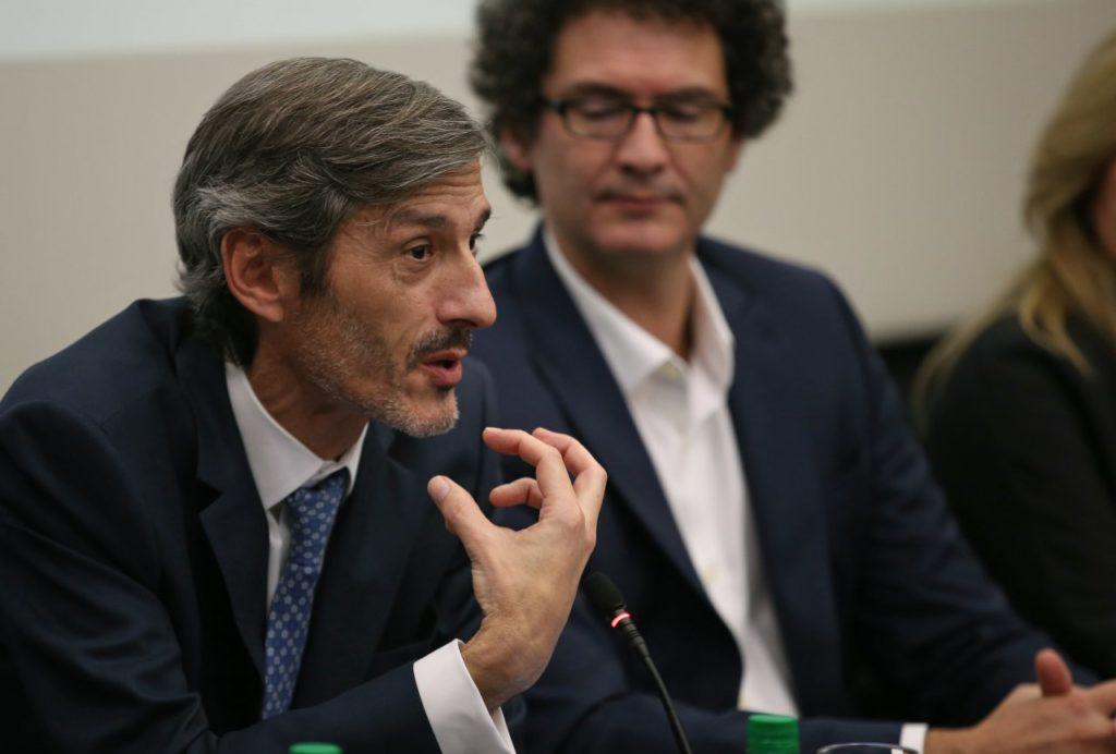 Fotografía de Martín Zarich, coentry manager de BBVA Francés durante el Encuentro Empresarial Iberoamericano