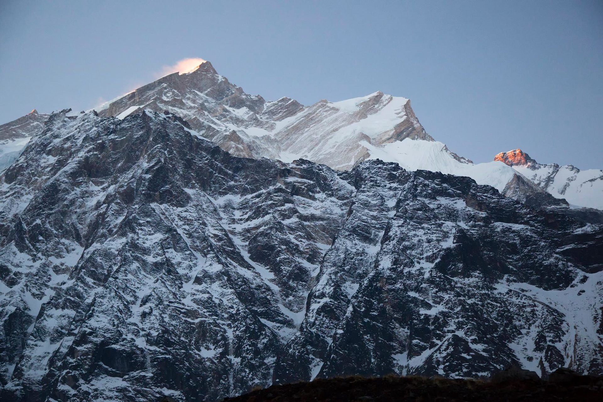 Fotografía de amanecer en el Annapurna