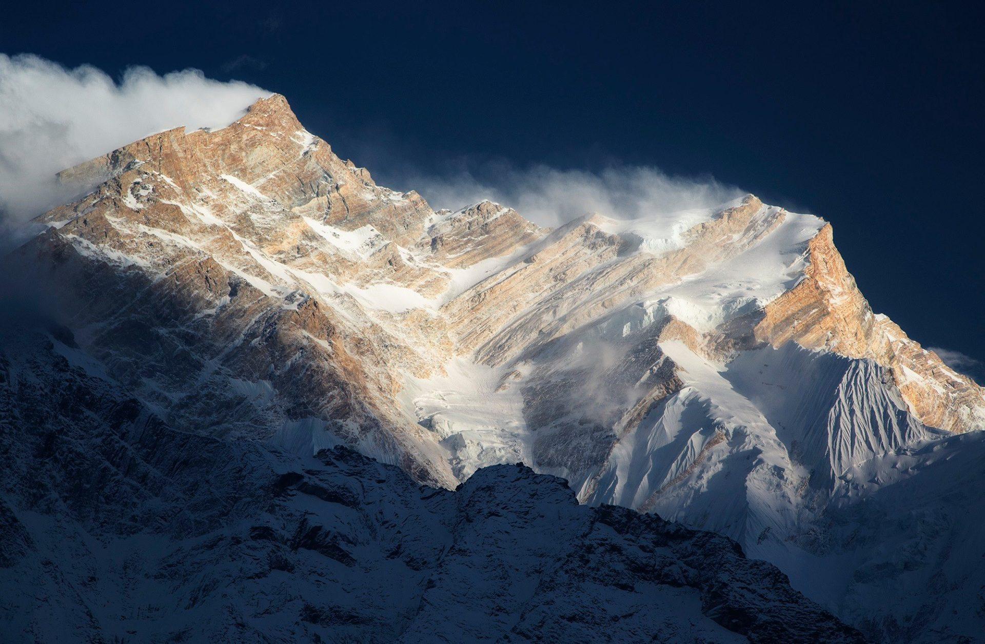 Fotografía de atardecer en el Annapurna