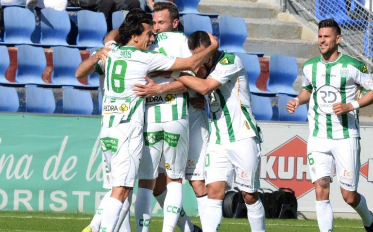 Jugadores del Córdoba celebran un tanto durante un partido de la Liga Adelante | Foto: LaLiga