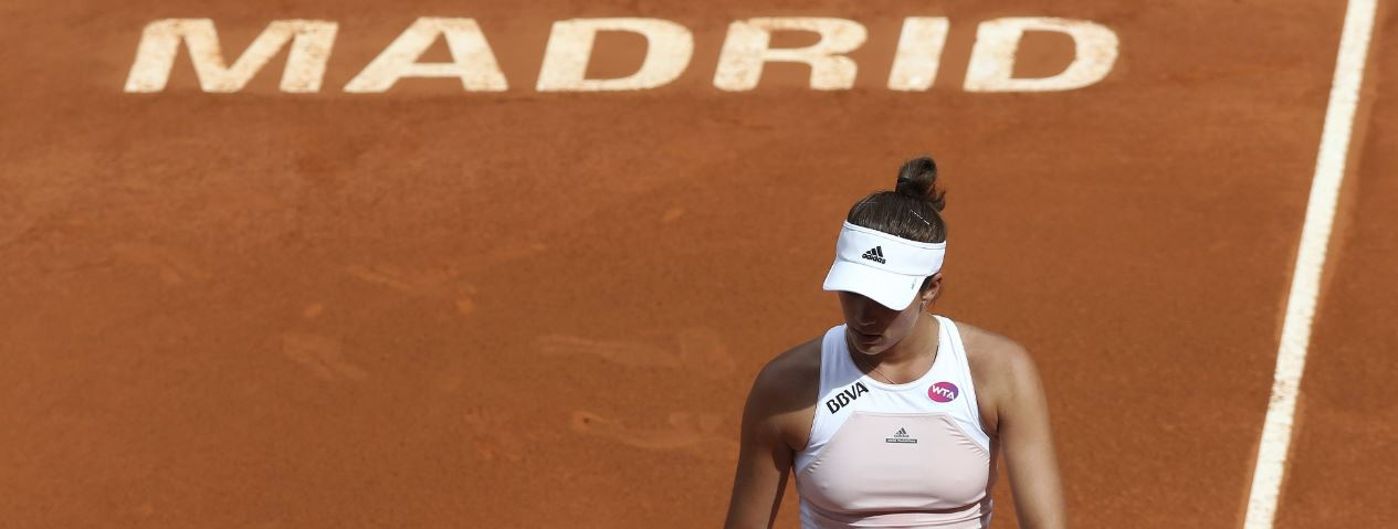 Garbiñe Muguruza, durante el Mutua Madrid Open de 2015 | Foto: EFE