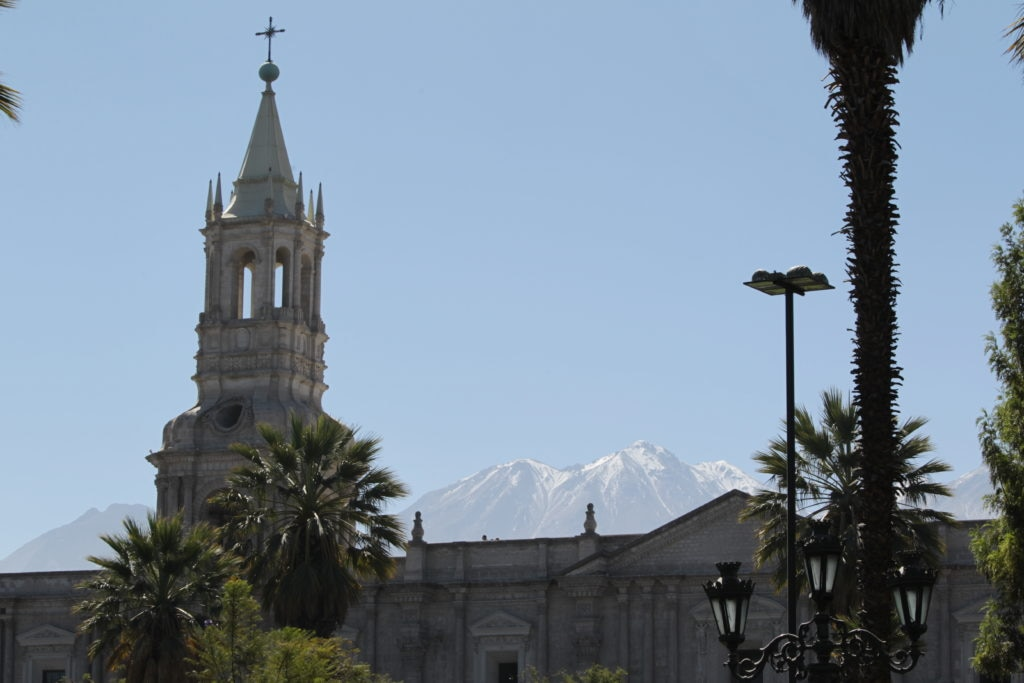 Fotografía de la Plaza de Armas de Arequipa, Perú - Ruta BBVA 2014