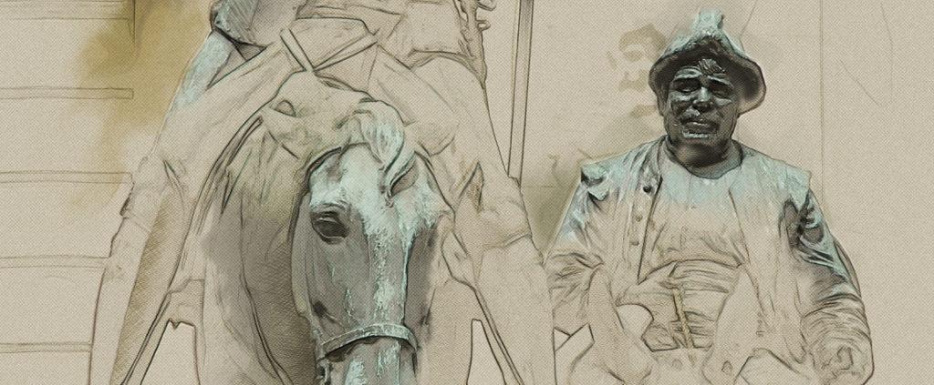 Imagen de Sancho Panza acompañando a Don Quijote