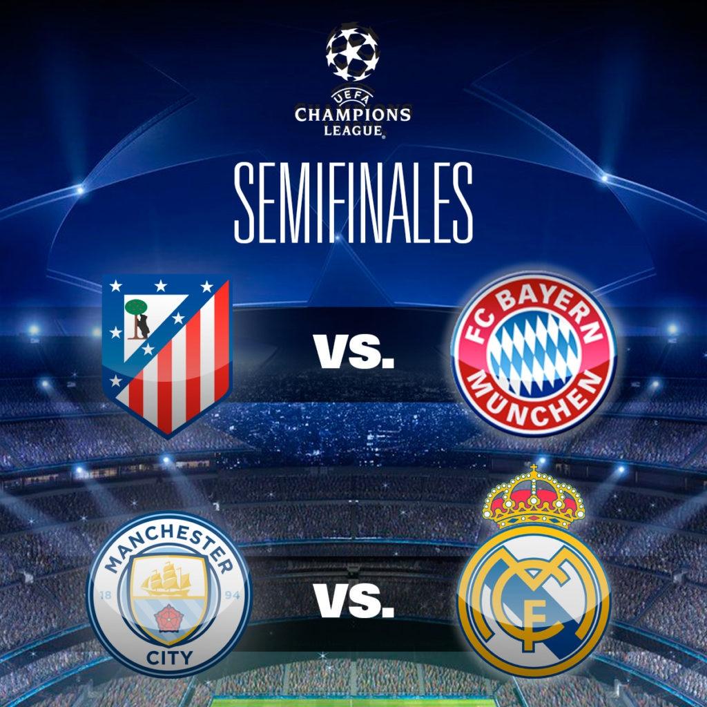 Emparejamientos de las semifinales de la UEFA Champions League