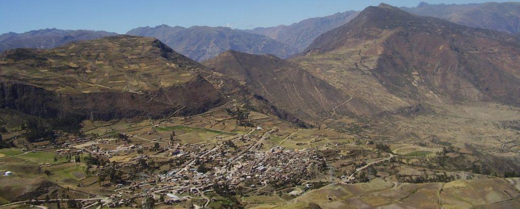 Vista de Churcampa (Perú), pueblo de Lucía Fernández (Fundación Microfinanzas BBVA)