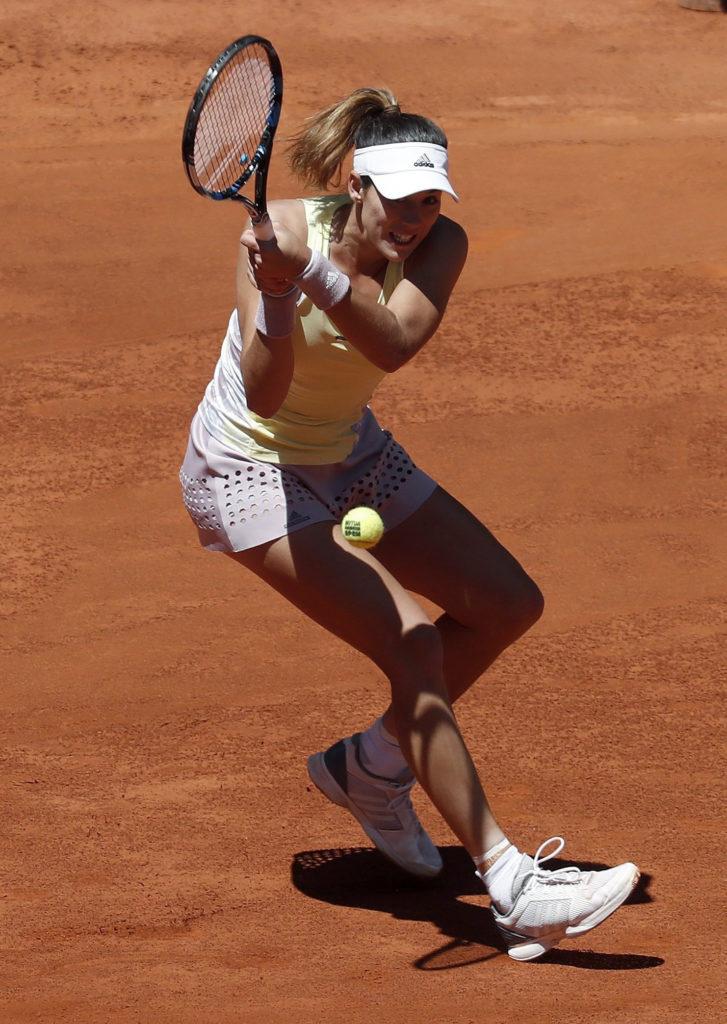 Fotografía de Garbiñe Muguruza debut Madrid Open 2016