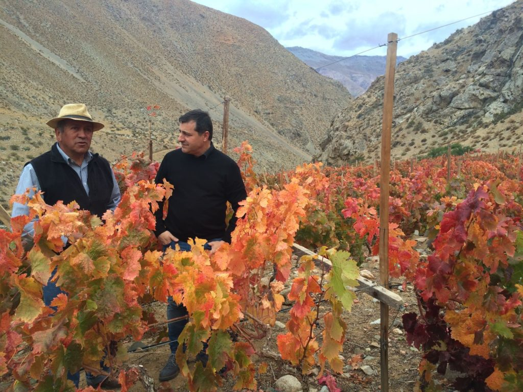 Fotografía de Josep Roca con Juan Luis Huerta durante el viaje de prospección a Chile