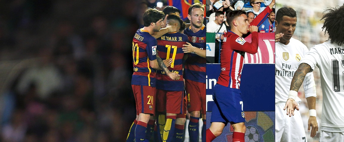 Barcelona, Atlético y Real Madrid pugnan por la Liga BBVA