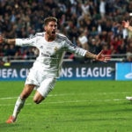 Sergio Ramos celebra el tanto decisivo en la pasada final de Lisboa | Foto: EFE
