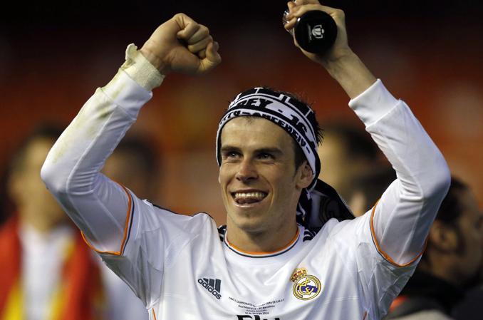 Fotografía de Gareth Bale celebra el título de Champions 2014