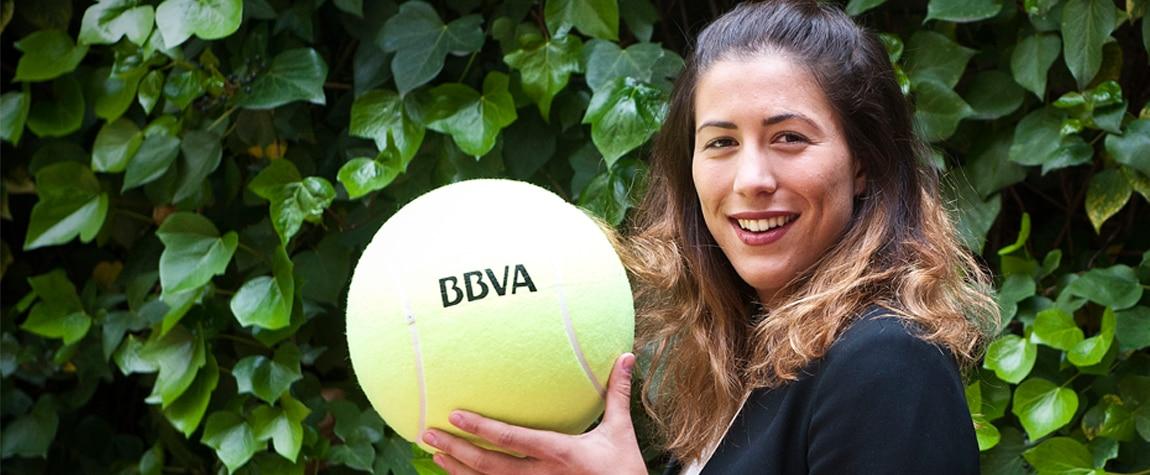 Garbiñe Muguruza, embajadora de BBVA, Roland Garros