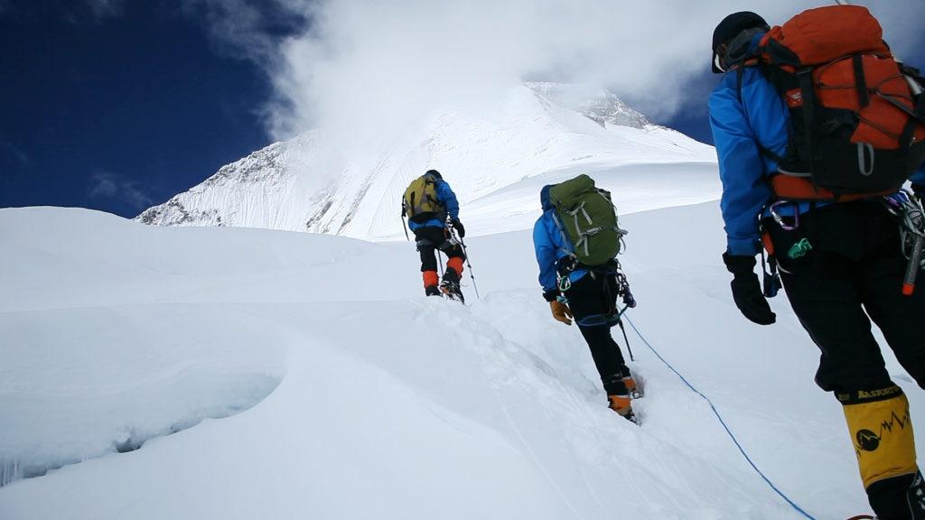 Fotografía de Equipo Expedición BBVA subida Campo 2 Dhaulagiri en 2012