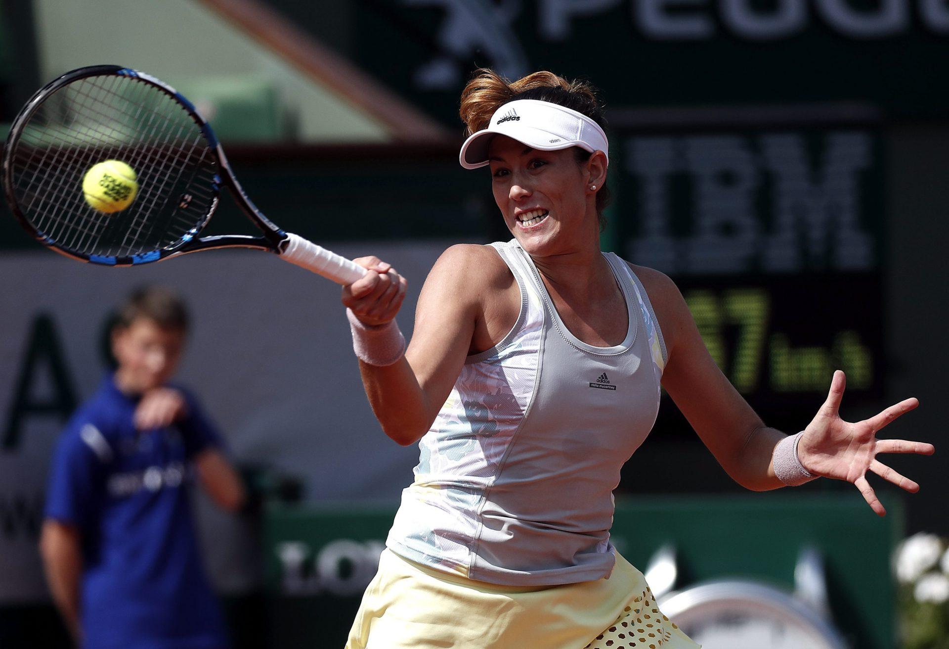 Fotografía de Garbiñe Muguruza en partido de tercera ronda de Roland Garros 2016