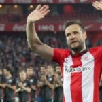 Gurpegui, en su despedida como jugador del Athletic   Foto: EFE