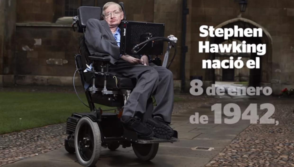 Stephen Hawking recibe la octava edición de el premio BBVA Foundation Frontiers of Knowledge Awards en la  categoría de Basic Sciences en el centro para Mathematical Studies de la Universidad de Cambridge. Crédito: Daniel Leal-Olivas