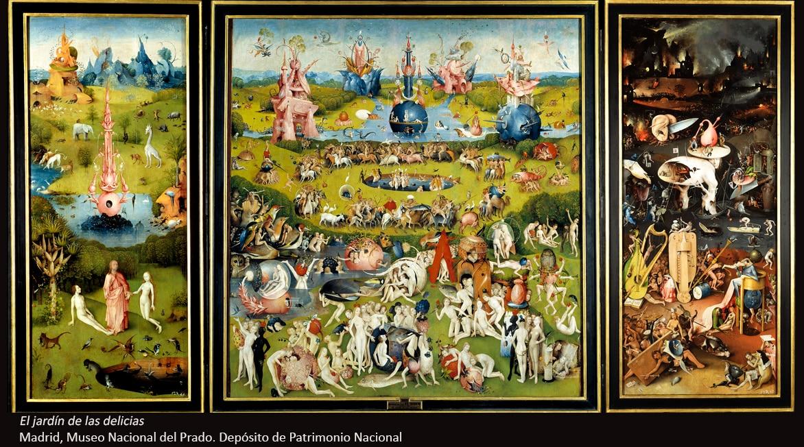 Fotografía de El jardín de las delicias de El Bosco -BBVA. Madrid, Museo Nacional del Prado. Depósito de Patrimonio Nacional