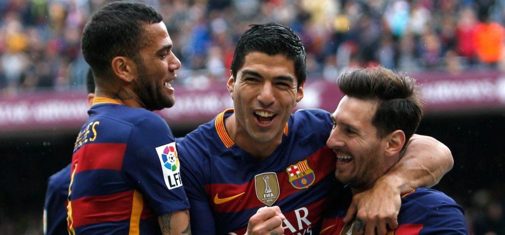 El Barcelona celebra un gol en el partido de Liga BBVA frente al Espanyol | Foto: EFE