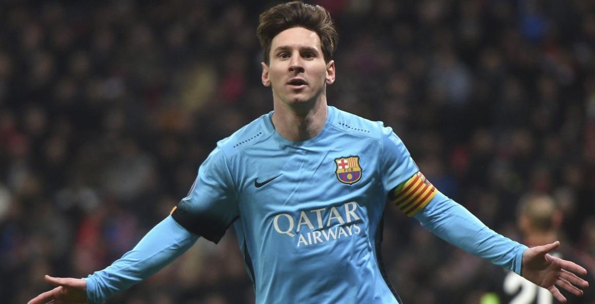 Leo Messi celebra un gol con la camiseta del Barcelona | Foto: EFE