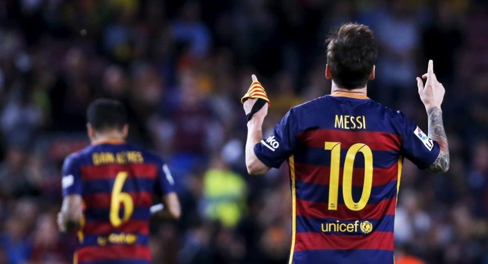 Leo Messi, jugador del FC Barcelona, durante un partido de la Liga BBVA
