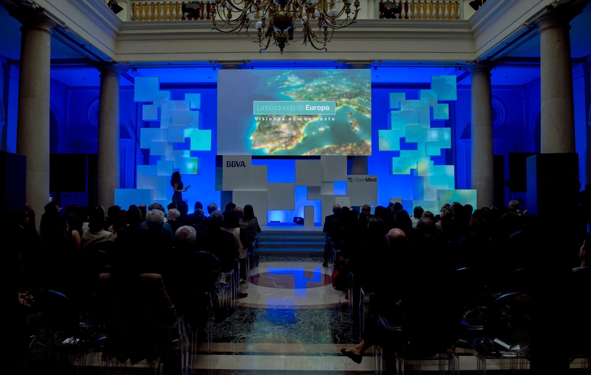 Fotografía de la Presentación del libro La búsqueda de Europa de OpenMind BBVA en el Palacio del Marqués de Salamanca