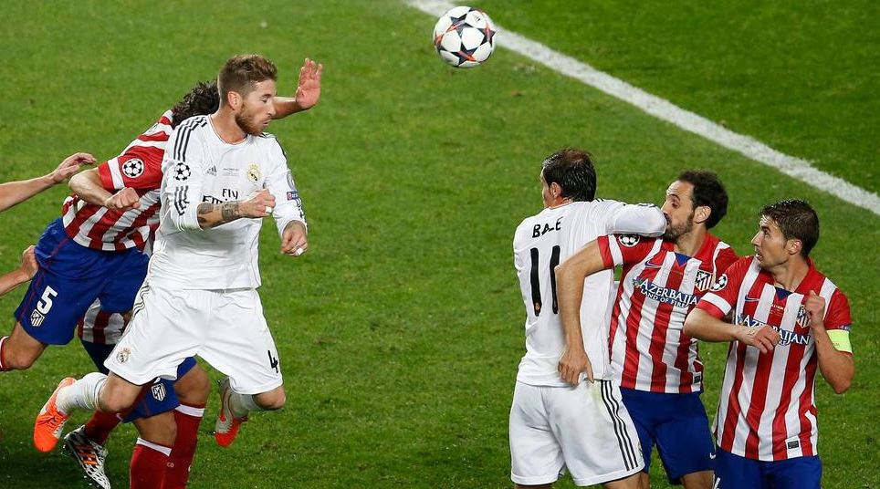 Sergio Ramos, instantes antes de marcar en la final de Champions entre Real Madrid y Atlético | Foto: EFE