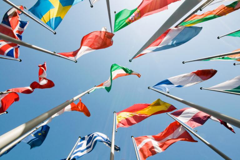 Fotografía recurso banderas europa