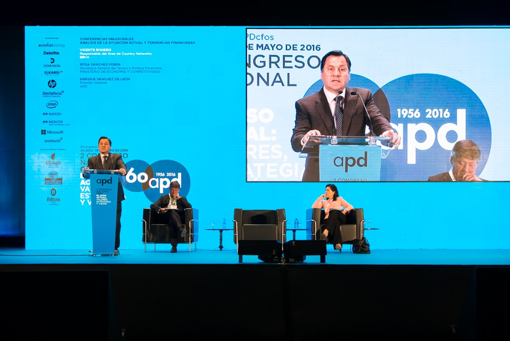Fotografía de Vicente Rodero director Country Networks Congreso Nacional CFOs APD BBVA