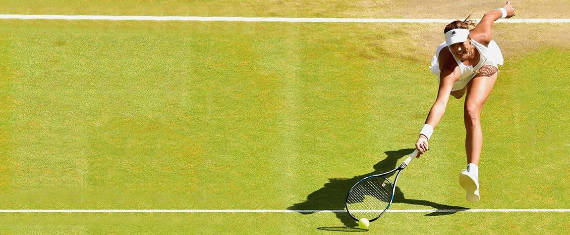 Fotografía de Garbiñe Muguruza en Wimbledon 2015