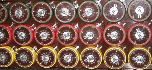 Detalle de la máquina Bombe de Alan Turing