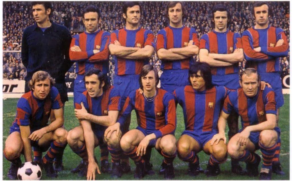 Fotografía de hugo el cholo sotil en el barcelona 1973 cruyff fútbol BBVA