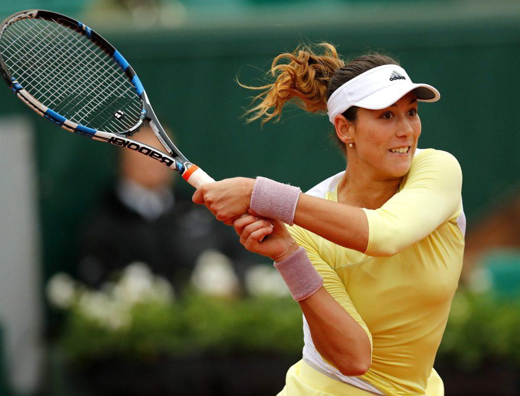 Fotografía de Garbiñe Muguruza cuartos de final Roland Garros 2016