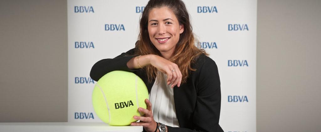 Garbine Muguruza embajadora de BBVA en Roland Garros