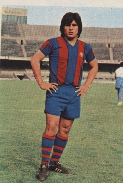 Fotografía de hugo el cholo sotil en el barcelona futbol liga deportista espana BBVA