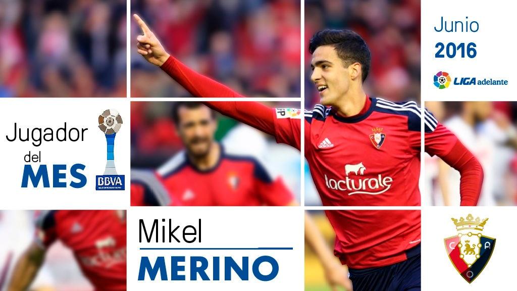 Fotografía de Mikel Merino, Premio BBVA mejor jugador Liga Adelante junio