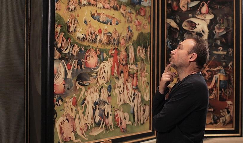 Imagen del artista Miquel Barceló, en una escena del documental sobre el Bosco patrocinado por la Fundación BBVA