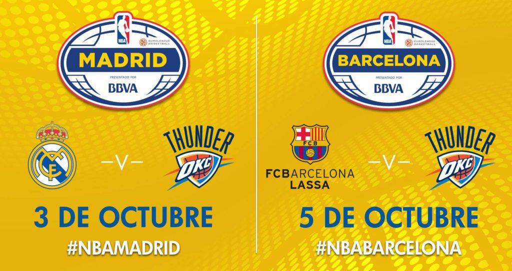 NBA Global Games 2016 Madrid Barcelona presented by BBVA