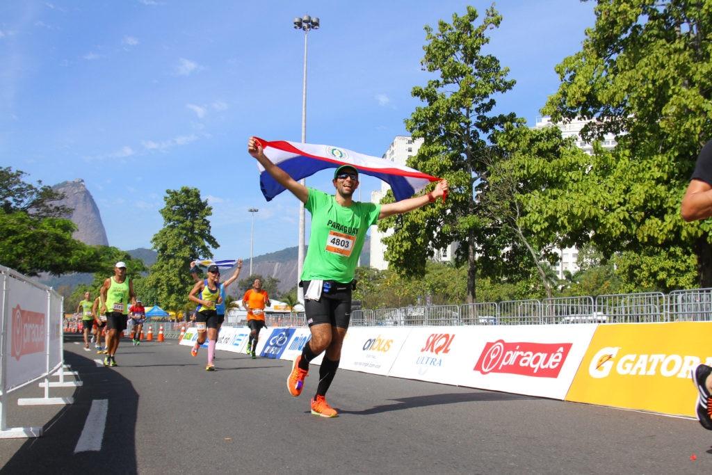 Corredor paraguayo en Maratón