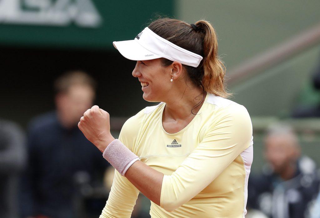 Fotografía de Garbiñe Muguruza cuartos de final de Roland Garros 2016