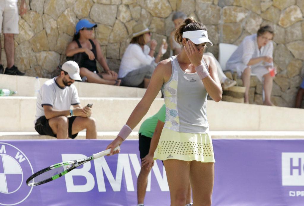 Fotografía de Garbiñe Muguruza en primera ronda del Mallorca Open 2016