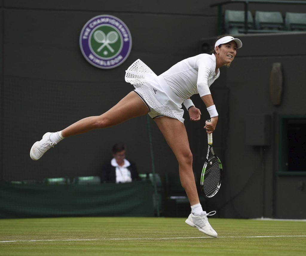Fotografía de Garbiñe Muguruza en segunda ronda de Wimbledon 2016