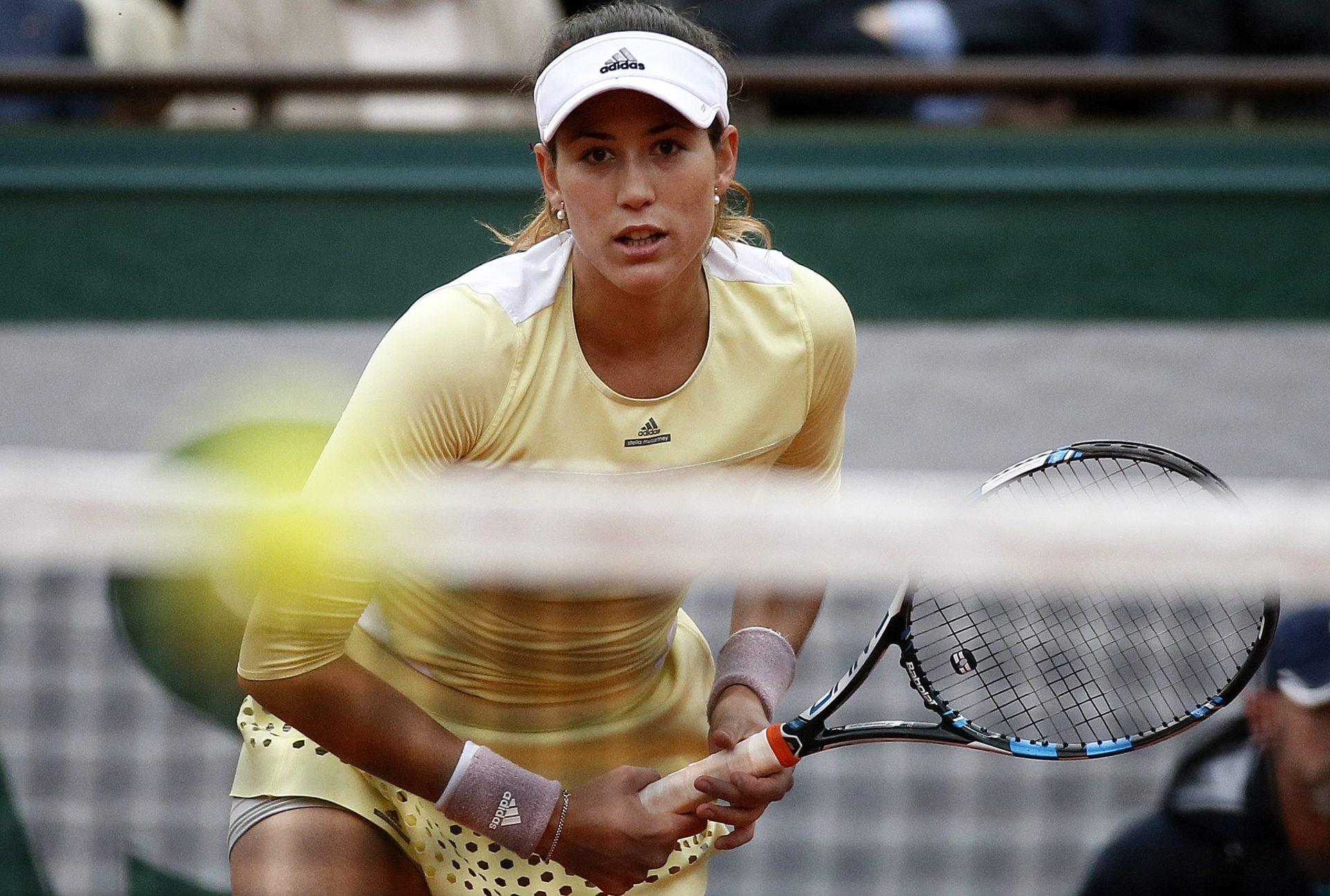 Fotografía de Garbiñe Muguruza, embajadora BBVA, durante la final de Roland Garros