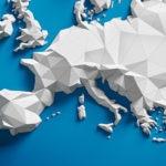 Mapa papel europa innovación azul blanco recurso bbva