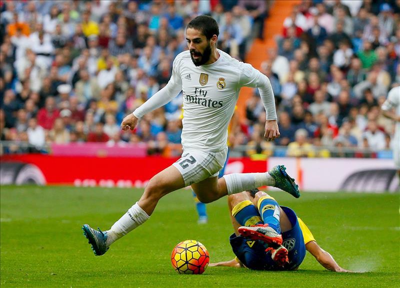 Isco, durante un partido de la Liga BBVA con el Real Madrid | Foto: EFE