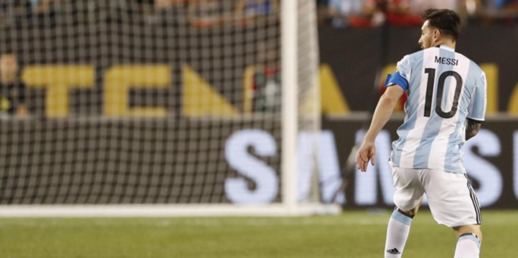 Messi, durante un partido de Argentina en la Copa América | Foto: EFE