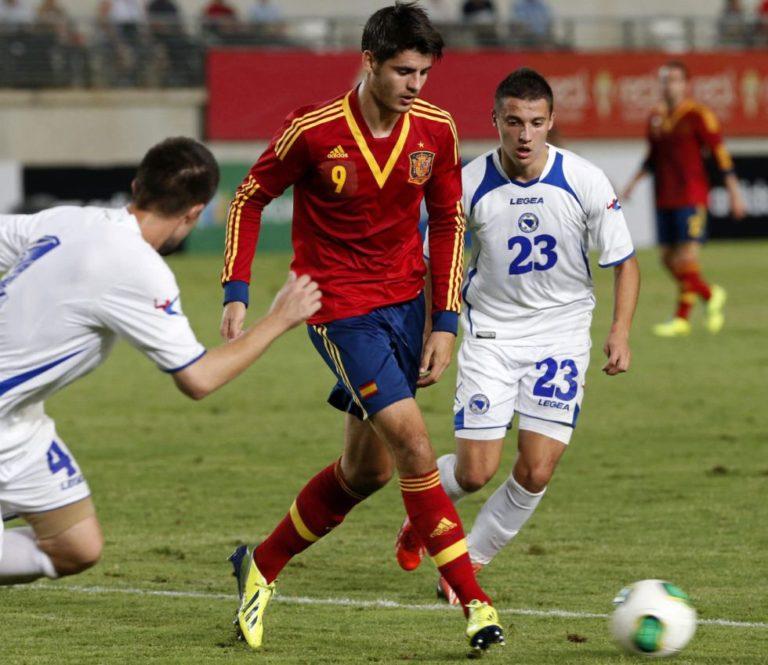 Fotografía de Álvaro Morata con la selección española