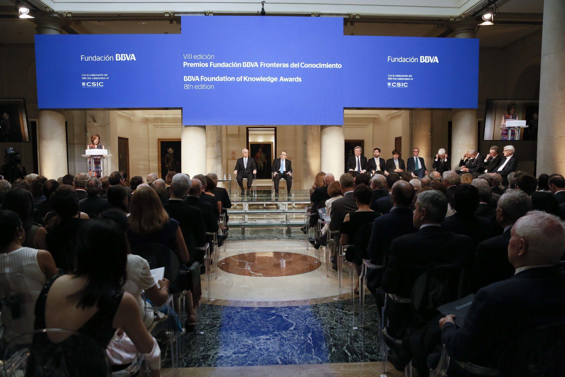 Fotografía de la ceremonia de entrega de los premios de la Fundación BBVA Fronteras del Conocimiento. KIKE PARA.